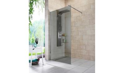 welltime Duschwand »Duschabtrennung«, Breite 100 cm, Grauglas kaufen