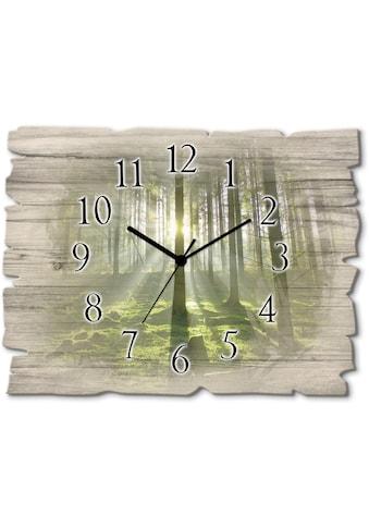 Artland Wanduhr »Wald im Gegenlicht« kaufen