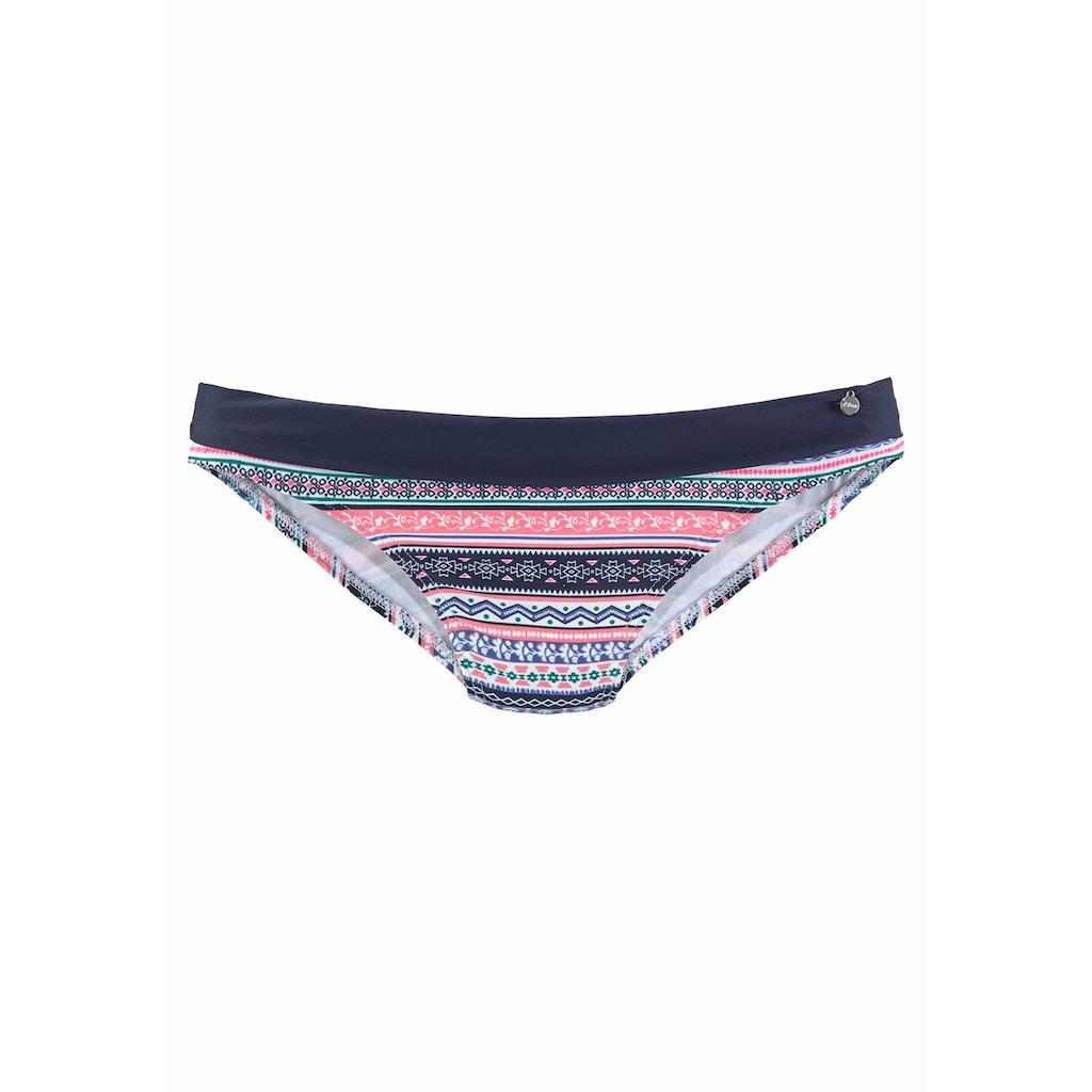 s.Oliver Beachwear Bikini-Hose »Barcelona«, mit Umschlagbund in Kontrastfarbe