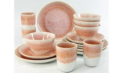 "CreaTable Kombiservice ""Aquarius pink"" (16 - tlg.), Steinzeug kaufen"