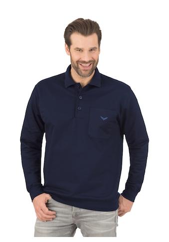 Trigema Langarm Polo aus Sweat - Qualität kaufen