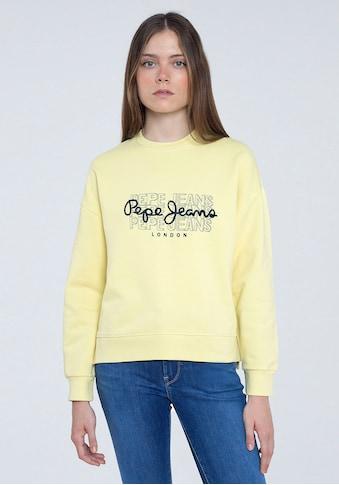 Pepe Jeans Sweater »BERE«, mit großem dreifachem Marken-Logo-Druck im Brustbereich kaufen