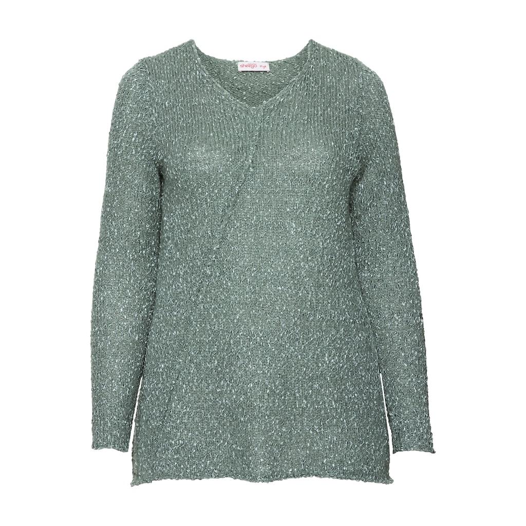 Sheego V-Ausschnitt-Pullover, in A-Linien-Form;