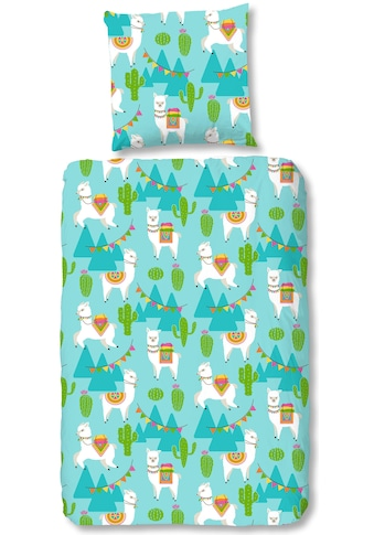 good morning Kinderbettwäsche »Lara«, mit Lamas bedruckt kaufen