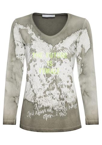 bianca Print-Shirt »MAGRET«, mit Wash-Out Effekt und Statement Schriftzug kaufen