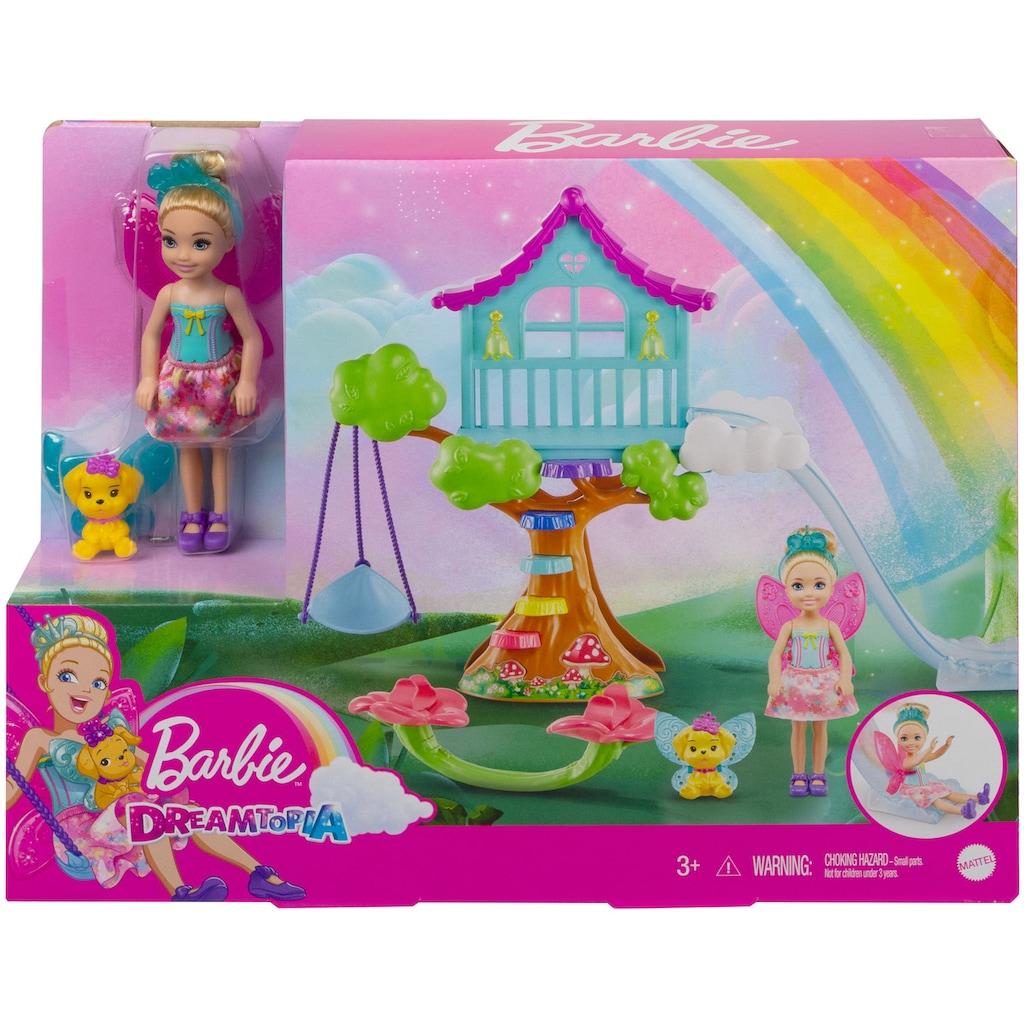 Barbie Puppenmöbel »Puppe, Dreamtopia Chelsea Regenbogen-Schaukel-Spielset«, mit Puppe