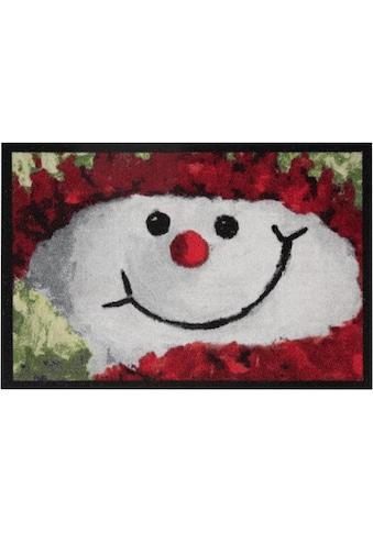 HANSE Home Fußmatte »Snowman«, rechteckig, 7 mm Höhe, Fussabstreifer, Fussabtreter, Schmutzfangläufer, Schmutzfangmatte, Schmutzfangteppich, Schmutzmatte, Türmatte, Türvorleger, In- und Outdoor geeignet kaufen