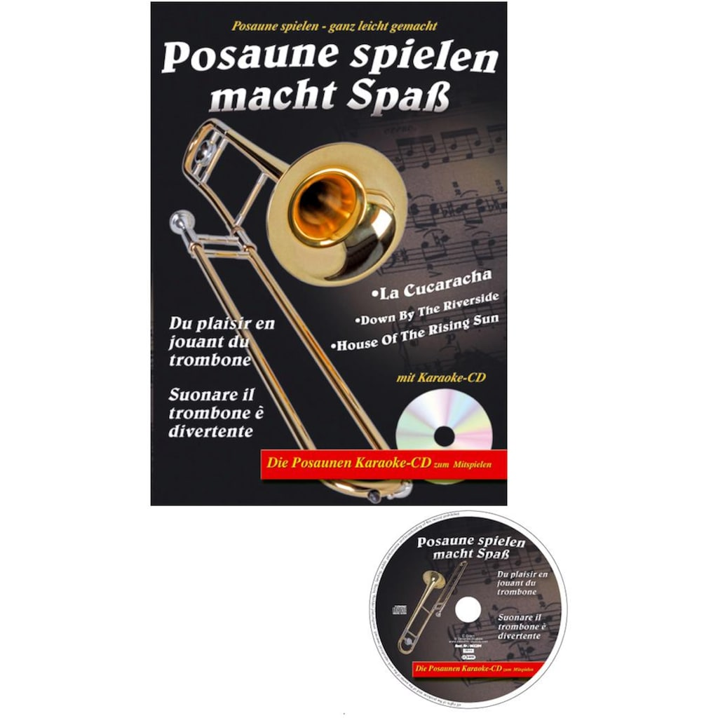Clifton Posaune »Tenor Zugposaune«, mit Koffer, Mundstück, Lernbuch und Karaoke CD