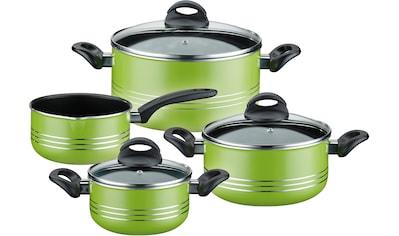 GSW Topf-Set »Milano color«, Aluminium-Leichtmetall-Legierung, (Set, 7 tlg.), Induktion kaufen