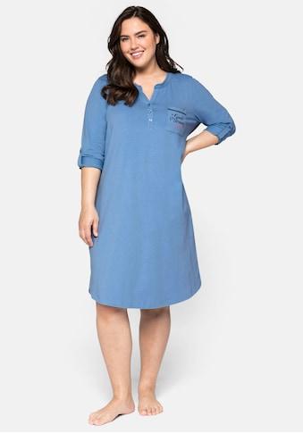 Sheego Nachthemd, mit Knopfleiste und Krempelriegel kaufen