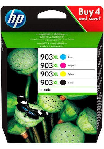 HP »hp 903XL Original Kombi - Pack Schwarz, Cyan, Magenta, Gelb, 3HZ51AE« Tintenpatrone kaufen