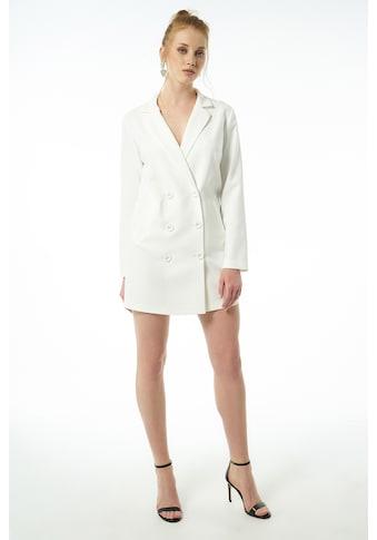 Jimmy Sanders Minikleid, Rania mit unifarbenem Stoff kaufen