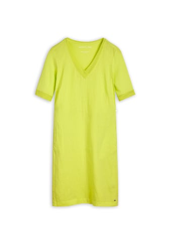Sandwich Kleid aus Leinen mit Netzdetails kaufen
