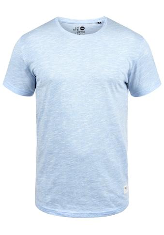 Solid Rundhalsshirt »Figos«, Kurzarmshirt mit Melierung kaufen