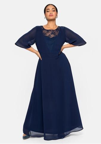 Sheego Abendkleid, aus Chiffon, mit Spitzen-Einsatz kaufen