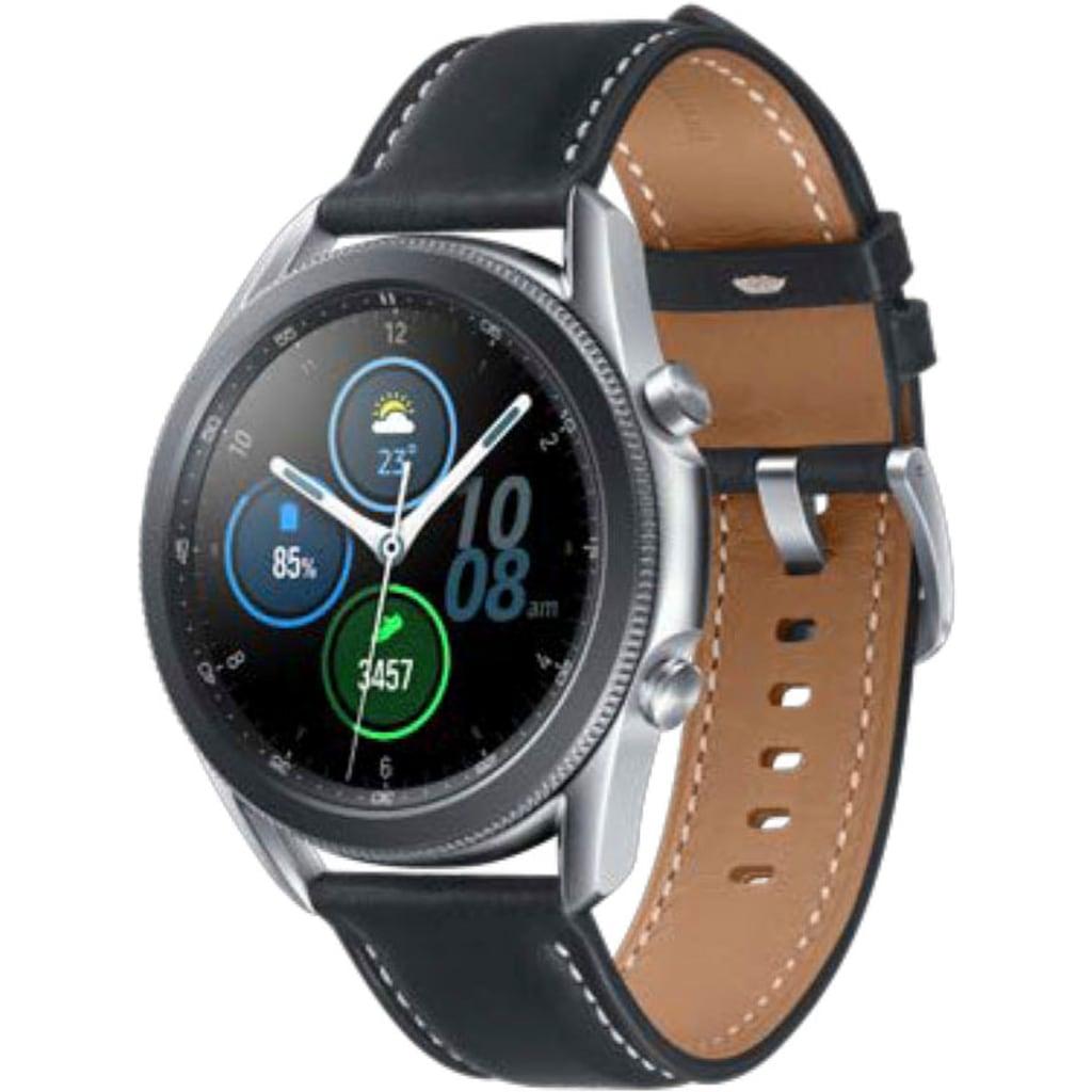 "Samsung Smartwatch »Galaxy Watch3, Edelstahl, 45 mm, Bluetooth (SM-R840)« (3,4 cm/1,4 """