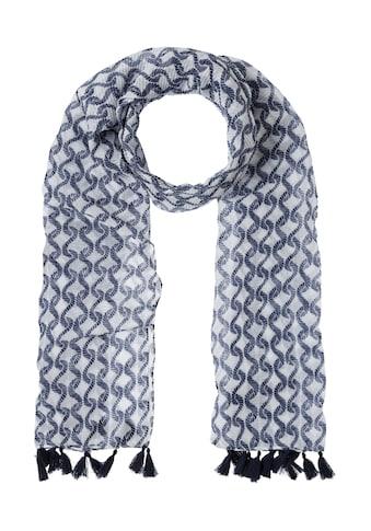 Olsen Modeschal, mit maritimem Muster und kleinen Quasten kaufen
