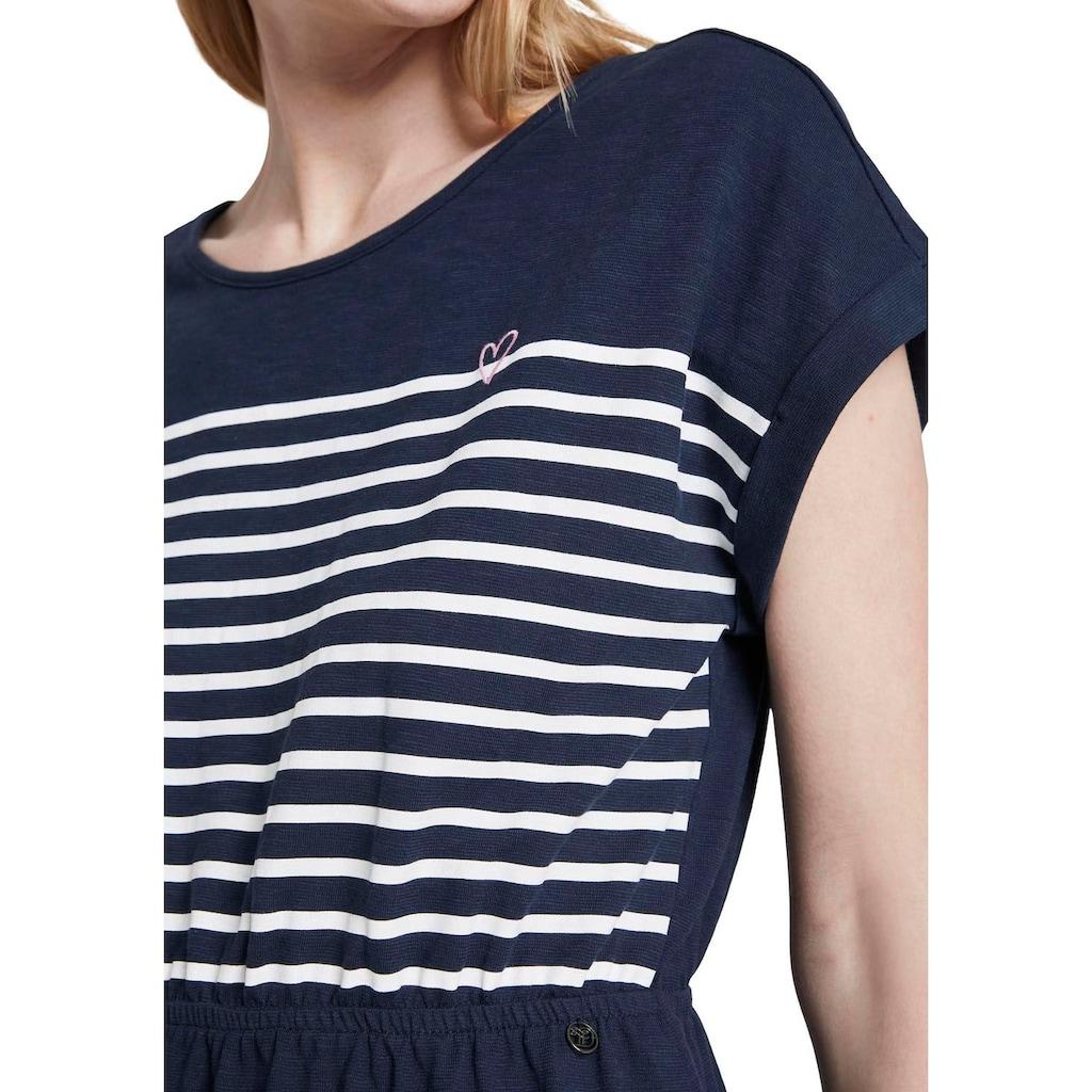 TOM TAILOR Denim Shirtkleid, mit Lace-Up-Details im Rückenausschnitt