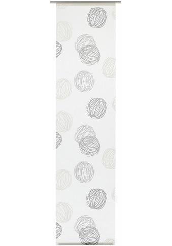 Schiebegardine, »Flächenvorhang Stoff Knäuel mit weißen Paneelwagen«, GARDINIA, Paneelwagen 1 Stück kaufen