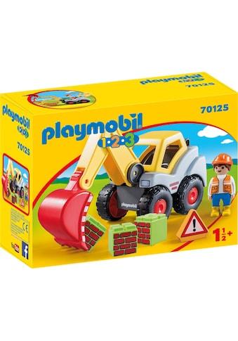 Playmobil® Konstruktions-Spielset »Schaufelbagger (70125), Playmobil 123«, Made in Europe kaufen