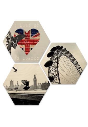 Wall-Art Mehrteilige Bilder »Typisch London Stadtbilder Set«, (Set, 3 St.) kaufen