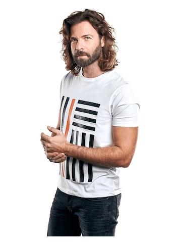 emilio adani Bio-Baumwoll-T-Shirt mit erhobenem Statement-Print kaufen