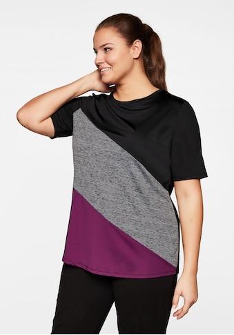 Sheego T-Shirt, mit Colourblocking, atmungsaktiv kaufen