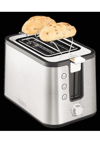 Krups Toaster »KH442«, 2 kurze Schlitze, für 2 Scheiben, 850 W, 6 Bräunungsstufen kaufen