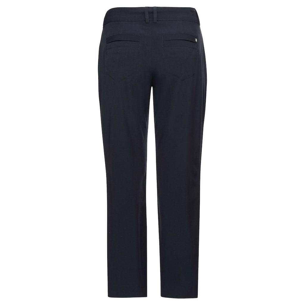 Sheego Stretch-Hose, mit weitem Bein und breitem Gürtel