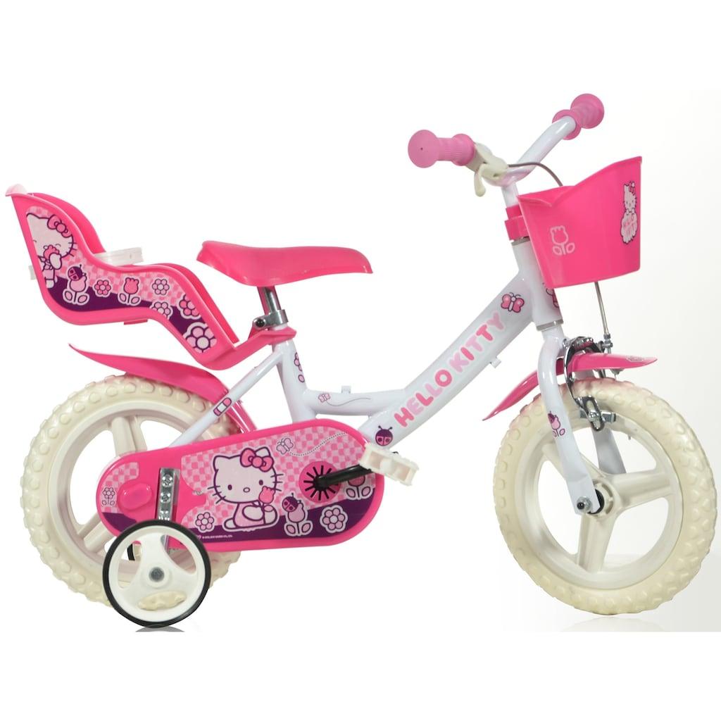 Hello Kitty Kinderfahrrad »Hello Kitty«, mit Lenkerkorb + Puppensitz