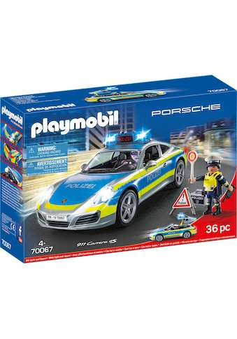 Playmobil® Konstruktions-Spielset »Porsche 911 Carrera 4S Polizei (70067), City Action«, Made in Germany kaufen