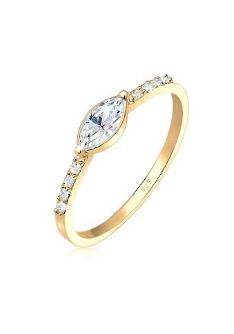 Elli Fingerring »Verlobung Marquise Swarovski® Kristalle 925 Silber« kaufen