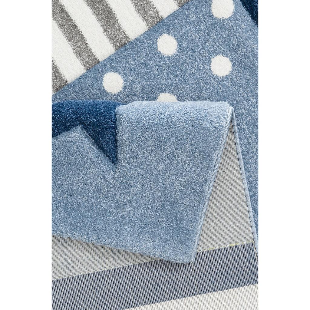 Lüttenhütt Kinderteppich »Stern«, rechteckig, 13 mm Höhe, handgearbeiteter Konturenschnitt, Kinderzimmer