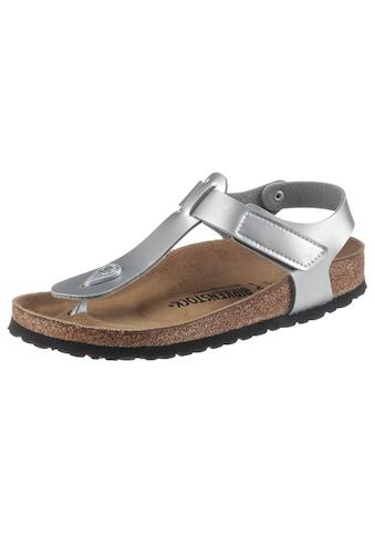 Birkenstock Zehentrenner »Kairo Kids«, in Metallic-Optik, schmale Schuhweite kaufen