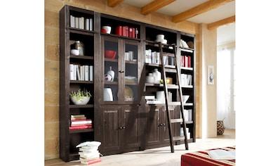 Home affaire Bücherwand »Bergen«, aus massivem schönen Kiefernholz, Breite 255 cm kaufen