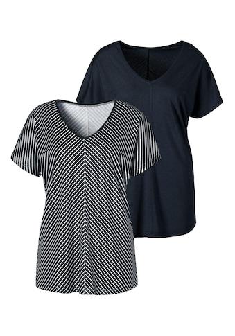 LASCANA T-Shirt, mit besonderem Streifendesign kaufen