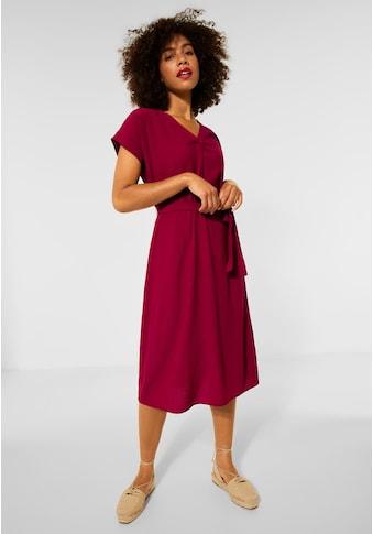 STREET ONE Jerseykleid, mit Bindegürtel zum Taillieren kaufen