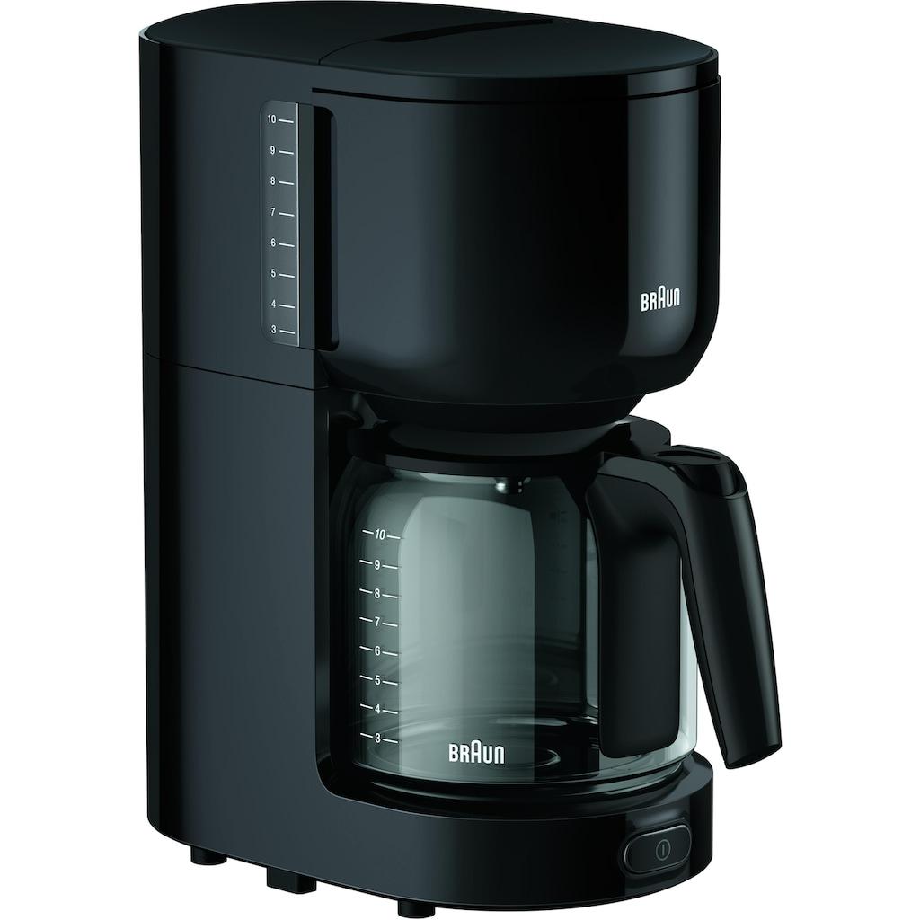 Braun Filterkaffeemaschine »KF 3120 BK«, Papierfilter, 1x4