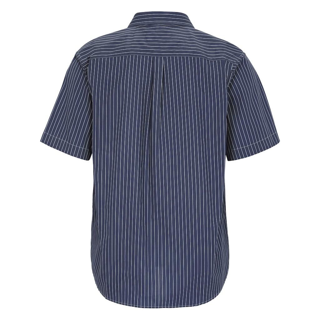 Jan Vanderstorm Streifenhemd »PERTTU«, Kurzarmhemd, bequeme Passform
