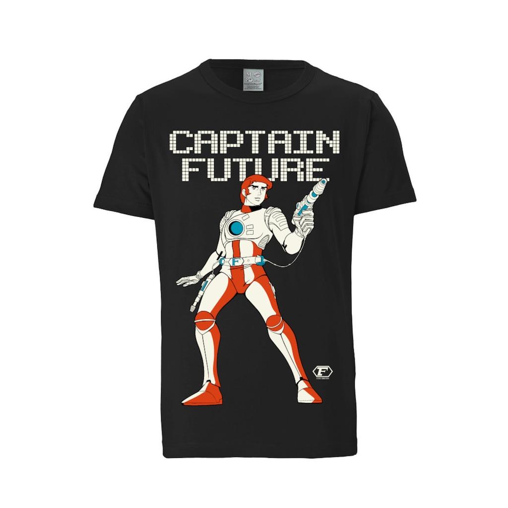 LOGOSHIRT T-Shirt mit coolem Captain Future-Frontprint