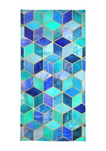 "Handtuch ""Blue Cubes"", Juniqe kaufen"