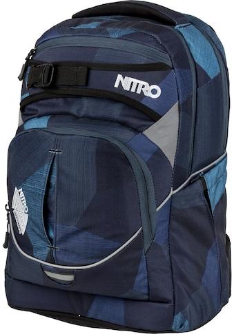 NITRO Schulrucksack »Superhero Fragments Blue«, Reflektoren kaufen