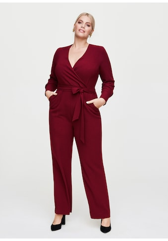 Rock Your Curves by Angelina K. Jumpsuit, mit Bindegürtel kaufen