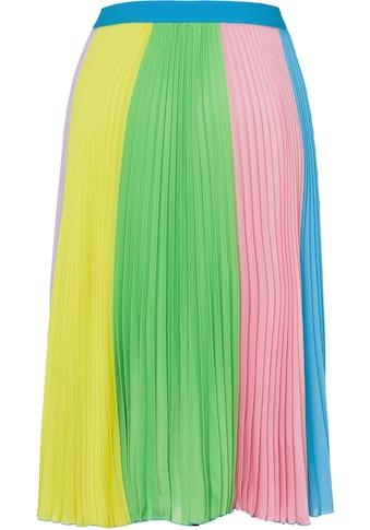 United Colors of Benetton Plisseerock, in kunterbuntem Bahnendesign kaufen