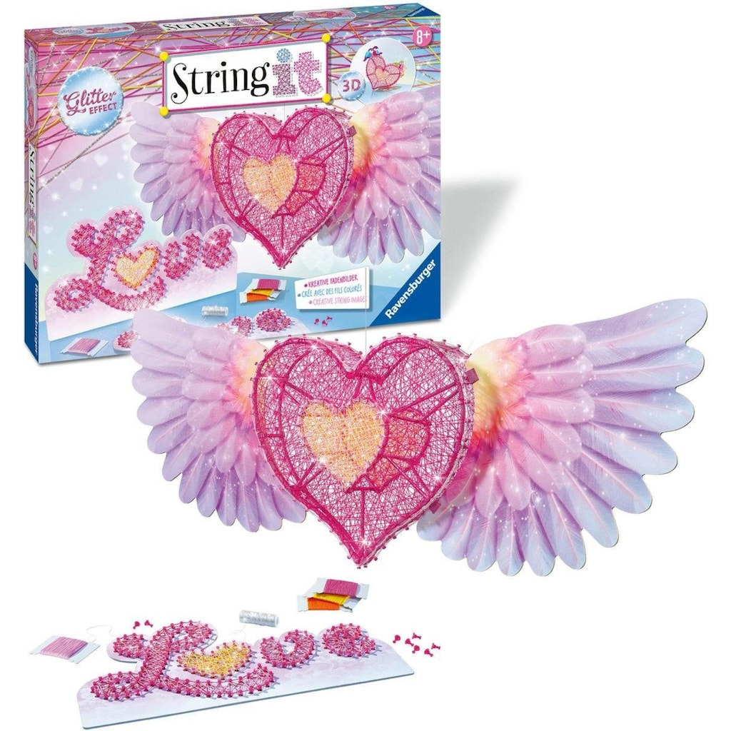 Ravensburger Kreativset »String it Maxi 3D-Heart«, Made in Europe
