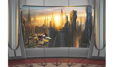 Komar Fototapete »Star Wars Coruscant View«, bedruckt-Comic, ausgezeichnet lichtbeständig kaufen