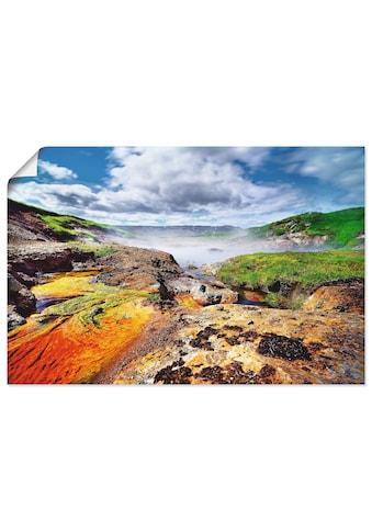 Artland Wandbild »Geothermalgebiet Nebelteich«, Gewässer, (1 St.), in vielen Größen &... kaufen