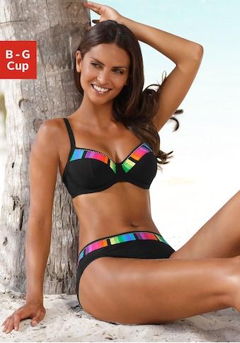 Sunflair Bügel-Bikini, mit bunten Kontrasteinsätzen kaufen