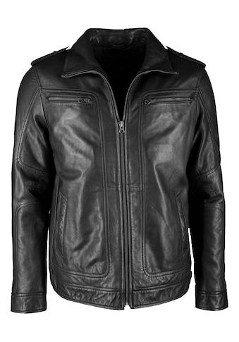 JCC Lederjacke »Bark«, mit lässigen Brusttaschen, sowie stylischen Schulterklappen und... kaufen