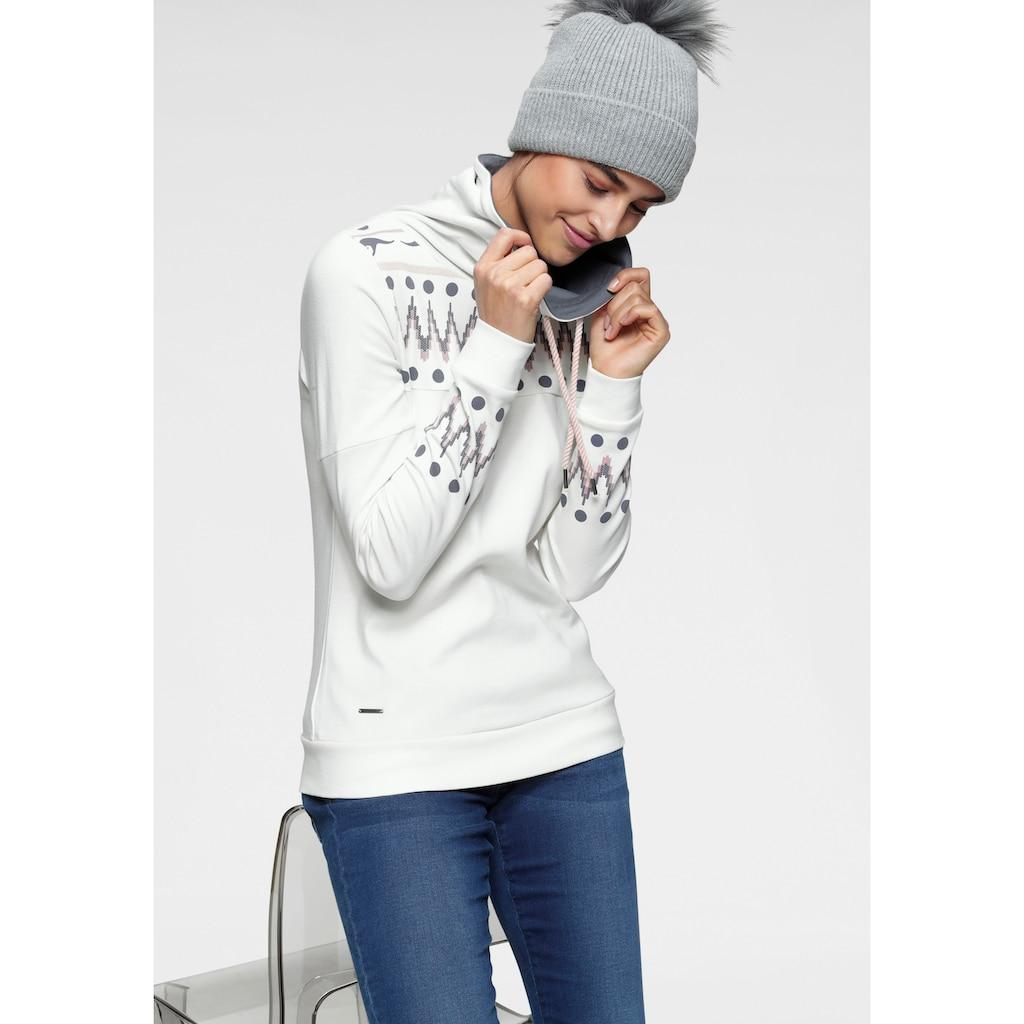 KangaROOS Sweatshirt, mit trendigem Druck vorn und an den Ärmeln